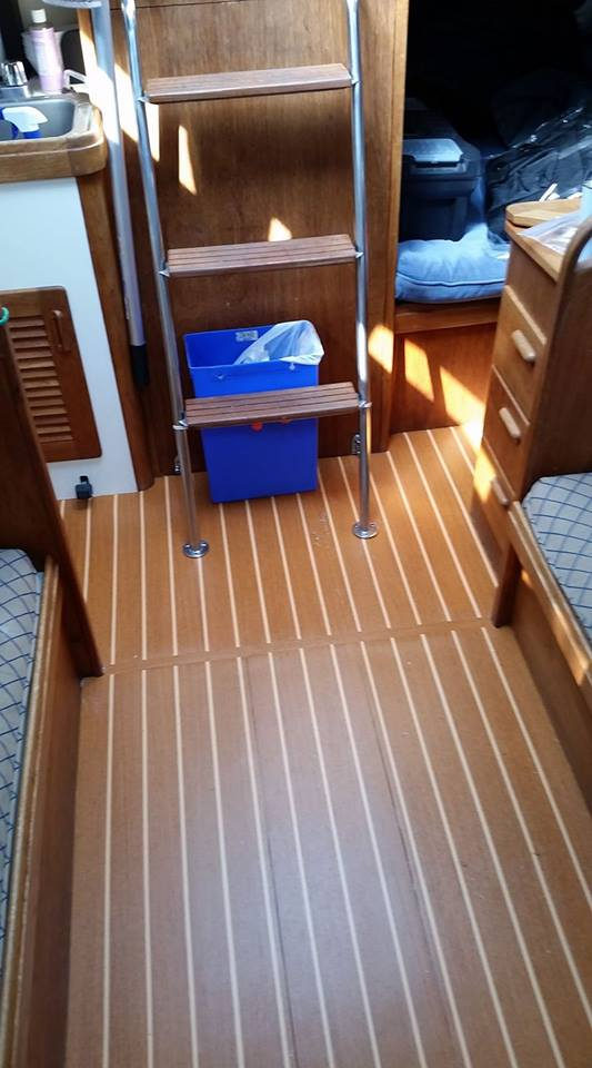New Teak And Holly Sole Boat